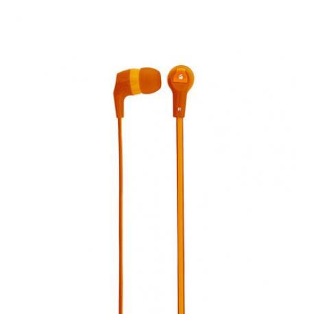 AUDIFONOS ACTECK XPLOTION EARBUDS HI-FI,CABLE PLANO,3.5MM NARANJA