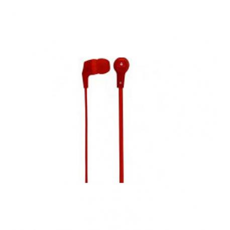 AUDIFONOS ACTECK XPLOTION EARBUDS HI-FI,CABLE PLANO,3.5MM ROJO