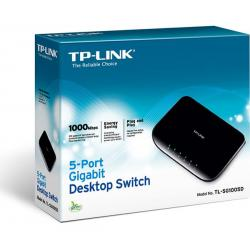 SWITCH TP-LINK TL-SG1005D 5 PUERTOS 10/100/1000MBPS ESCRITORIO/PARED