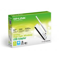 ADAPTADOR DE RED USB TP-LINK TL-WN722N INALAMBRICA USB N150 ALTA GANANCIA