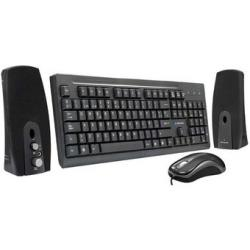 KIT TECLADO ESTANDAR ALAMBRICO/MOUSE /BOCINA AK3-2700