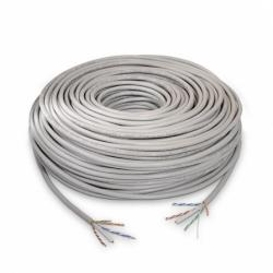 BOBINA CABLE UTP VCOM CAT5E CCA .5MM 305MTS INTERIOR (GRIS)