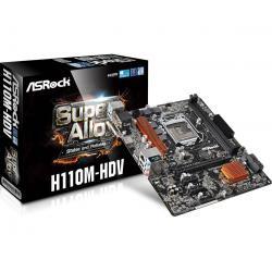 TARJETA MADRE ASROCK H110M-HDS SOCKET 1151 (DDR4),DVI,HDMI,SON8CH,GLAN (H110M-HDV)