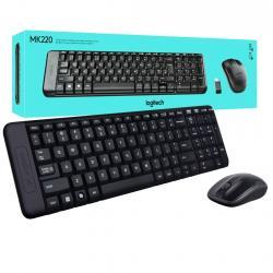 KIT TECLADO Y MOUSE LOGITECH INALAMBRICO USB MK220 (920-004430)