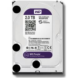 DISCO DURO WESTERN DIGITAL PURPLE 3.5 2TB SATA3 6GB/S 64MB INTELLIPOWER 24X7 P/DVR 1-8 BAHIAS/1-32 CAM