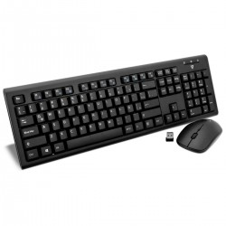 KIT MOUSE Y TECLADO INALAMBRICO V7 WRLS USB/PS2 NEGRO ESPANOL (CKW200MX)