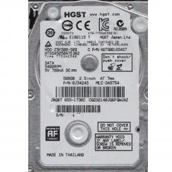 DISCO DURO INTERNO LAP TOP NEW HGST 500GB SATA 2.5 (HTS545050A7E362)