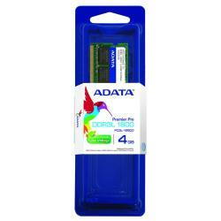 MEMORIA RAM DDR3L ADATA 4GB 1600 MHZ SODIMM 1.35V ADDS1600W4G11-S