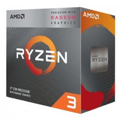 PROCESADOR AMD RYZEN 3 3200G S-AM4 65W 3.6GHZ TURBO 4 GHZ CACHE 6MB 4CPU 8GPU CORES/ VENTILADOR AMD WRAITH SPIRE/GRAFICOS RADEO