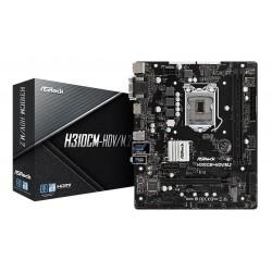 TARJETA MADRE ASROCK H310CM-HDV DDR4 DVI-D,VGA , HDMI USB 3,1 X4 SOC 1