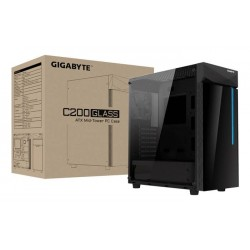GABINETE GIGABYTE CHASSIS MID TOWER BLACK GB-C200G MINI-ITX/M-ATX/ATX (GB-C200G)
