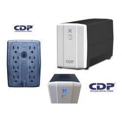 NO BREAK CDP 500VA/250W, 8 CONTACTOS, INDICADORES LED, BRAKER, RESPALDO DE BATERI A Y SUP DE PICOS (R-UPR508)