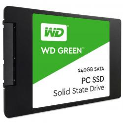 DISCO DE ESTADO SOLIDO(SSD) WESTERN DIGITAL 240GB SATA3 2.5 7MM GREEN (WDS240G2G0A)