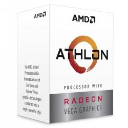 PROCESADOR AMD ATHLON 220GE S-AM4 35W 3.4 GHZ CACHE 5 MB 2CPU CORES / GRAFICOS RADEON VEGA 3GPU/ CON VENTILADOR/COMP. BASICO(AT