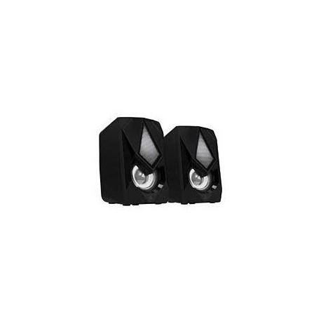 BOCINAS MULTIMEDIA ACTECK-X 2.0/6W/USB/3.5 MM/LED BLANCO/NEGRO WONDER X