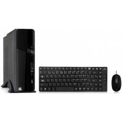 GABINETE KIT ACTECK LYON-K SK-350, MICRO-ATX/MINI-ITX, USB 2.0, 500W, NEGRO + TECLADO/MOUSE