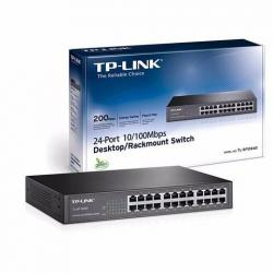SWITCH TP-LINK TL-SF1024D 24 PUERTOS 10/100 MBPS,NOADMIN PARA RACK DE 13PULG