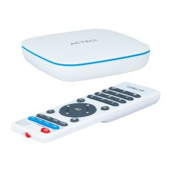 ADAPTADOR DE TELEVISÓN MULTIMEDIA (TV BOX) ACTECK PENTA CORE ANDROID 7.1 / 2 PUERTOS USB 2.1/BLANCO (AC-927956)
