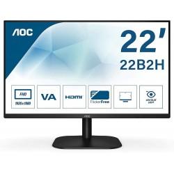 MONITOR LED AOC 21.5 HDMI VGA VESA 1920 X 1080 75 HZ FLICKERFRE (22B2H)