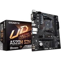 TARJETA MADRE GIGABYTE A520M S2H 3RA GEN AMD RYZEN 2 X DDR4 64GB HDMI DVI-D D-SUB (A520M S2H)
