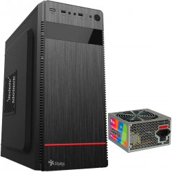GABINETE STYLOS ATX 2 X 3,25 HDD,1 X 2.5 SSD, 500W (STPGAC4B)