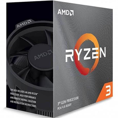 PROCESADOR AMD RYZEN 3 3100 3,6GHZ 16MB 65W SOC AM4 (100-100000284BOX)