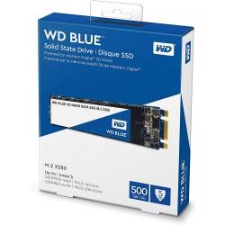 DISCO DE ESTADO SOLIDO WESTERN DIGITAL 500GB SSD M.2 2280 3D NAND BLUE SATA III (WDS500G2B0B)