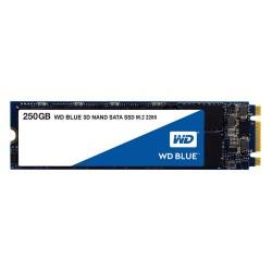 DISCO DE ESTADO SOLIDO SSD WESTERN DIGITAL 250GB M.2 2280 3D NAND BLUE SATA III (WDS250G2B0B)